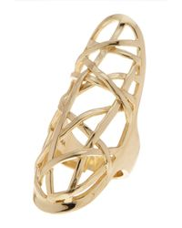 Cole Haan - Metallic Geometric Crystal Ring - Size 7 - Lyst