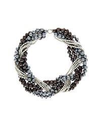 Splendid - 4-12mm Multicolor Shell Pearl Braided Torsade Necklace - Lyst