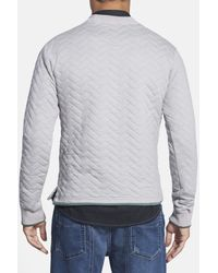 Descendant Of Thieves - Gray Quilted Crewneck Sweatshirt for Men - Lyst