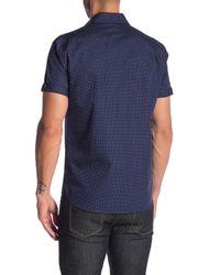 Parke & Ronen - Blue Biscayne Printed Short Sleeve Slim Fit Shirt for Men - Lyst