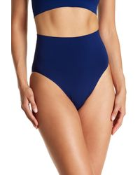 Wolford Blue Seamless High Waist Bikini Bottoms