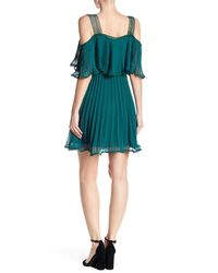 Lucy Paris - Green Pleated Popover Dress - Lyst