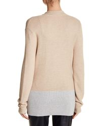 Basler - Natural Ribbed Knit Button Cardigan - Lyst