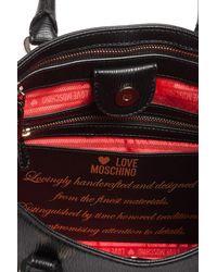 Love Moschino - Black Saffiano Convertible Satchel - Lyst