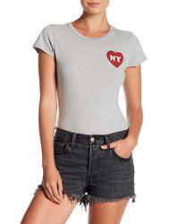 Project Social T - Gray Ny Heart Bug Bodysuit Tee - Lyst