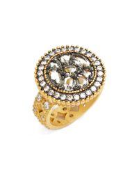 Freida Rothman - Metallic Round Cz Pebble Ring - Lyst