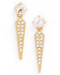 Nadri - Metallic Gwen Crystal Drop Earrings - Lyst