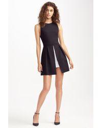 Alice + Olivia - Black 'bria' Peplum Fit & Flare Dress - Lyst