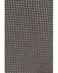 BOSS - Gray Solid Silk Tie for Men - Lyst