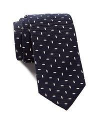 BOSS - Blue Dash Silk Tie for Men - Lyst