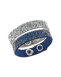 Swarovski | Blue Crystal Rock Bracelet Set | Lyst