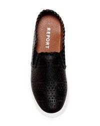 Report - Black Abena Perforated Slip-on Sneaker for Men - Lyst