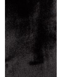 Trouvé - Black Velvet Moto Jacket - Lyst