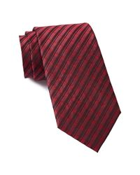 CALVIN KLEIN 205W39NYC - Red Merlot Plaid Tie for Men - Lyst