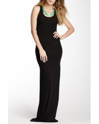 507c0e1b57 Lyst - Go Couture Racerback Maxi Dress in Black