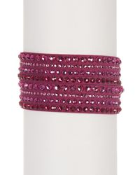 Swarovski | Purple Slake Crystal Deluxe Bracelet | Lyst