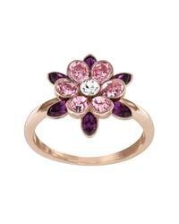 Swarovski - Multicolor Cinderella Flower Ring - Size 8 - Lyst