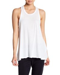 James Perse - White Crepe Jersey A-line Tank - Lyst
