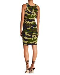 Kendall + Kylie - Green Camo Printed Dress - Lyst