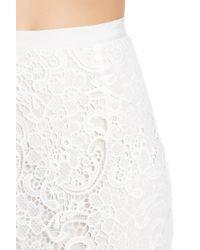 Joe Fresh - White Lace Skirt - Lyst