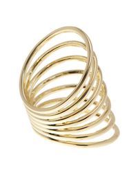 Ariella Collection - Metallic Cutout Shield Ring - Lyst