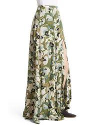Free People | Green Hot Tropics Maxi Skirt | Lyst