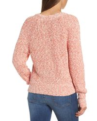 Free People - Red Electric City Pullover Sweater - Lyst