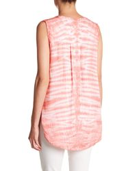 Casual Studio - Pink V-neck Sleeveless Blouse - Lyst