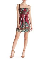 Sky - Red Nuvia Buckle Embellished Silk Dress - Lyst