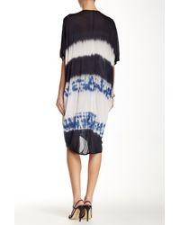 Go Couture | Blue Tie Dye Dolman Sleeve Hi-lo Dress | Lyst