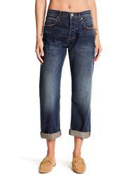 Current/Elliott - Blue Wide Leg Boyfriend Jeans - Lyst