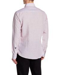 Stone Rose Pink Geometric Print Shirt for men