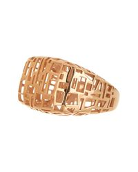 Roberto Coin | Metallic 18k Rose Gold Plated Skyline Ring - Size 7.25 | Lyst