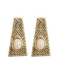 House of Harlow 1960 | Pink Tanta Crosshatch Stud Earrings | Lyst