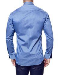 Maceoo - Blue Elegance Stripe Long Sleeve Trim Fit Shirt for Men - Lyst