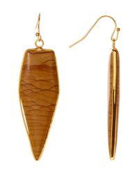 Panacea - Brown Jasper Arrow Drop Earrings - Lyst