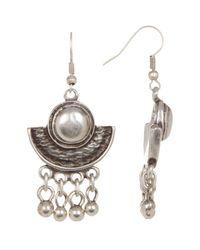 TMRW STUDIO - Metallic Half Circle Dangle Earrings - Lyst