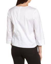 Halogen - White Tie Front Blouse (petite) - Lyst