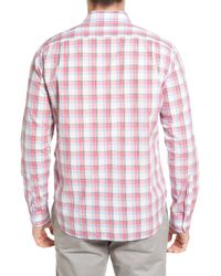 Bonobos - Pink Summerweight Slim Fit Plaid Sport Shirt for Men - Lyst
