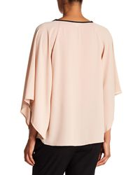 Pleione - Multicolor Flutter Sleeve Blouse - Lyst