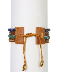 Chan Luu - Multicolor Leather & Bead Multi Strand Bracelet - Lyst