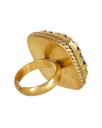 Nest - Multicolor Lapis Brass Adjustable Ring - Lyst