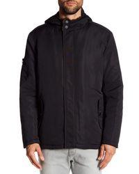 Kenneth Cole | Black Faux Fur Lined Coat for Men | Lyst
