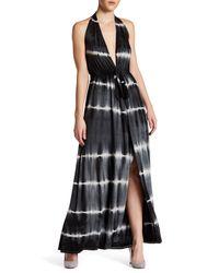 Go Couture | Black Tie-dye Halter Maxi Dress | Lyst