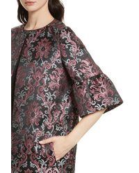 Kate Spade - Multicolor Tapestry Jacquard Coat - Lyst
