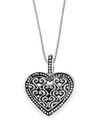 Lori Bonn - Metallic Bb Sweets Sterling Silver Hello, Lover Token Pendant Necklace - Lyst