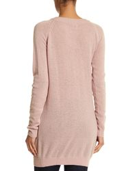 Portolano - Pink Boatneck Cashmere Sweater Dress - Lyst