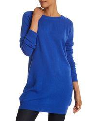 Portolano - Blue Boatneck Cashmere Sweater Dress - Lyst