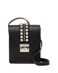 Valentino By Mario Valentino - Black Bridgette Leather Crossbody Bag - Lyst