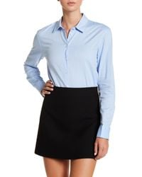 Tibi | Blue Oxford Shirting Bodysuit | Lyst